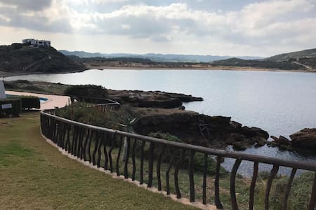 Good Apartment with Pool, 3 Minute walk to Beach - Fornells