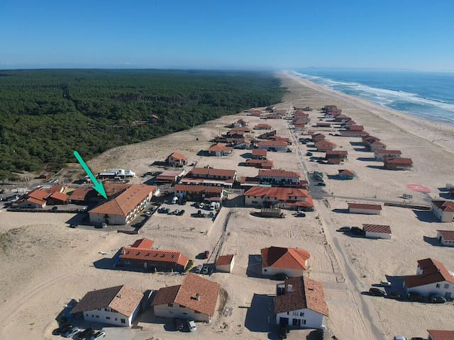 Studio 4-5 people between beach and forest, Landes