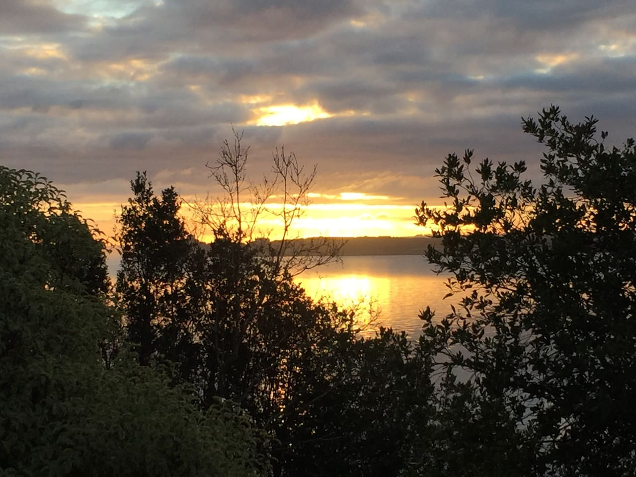 Sea view from the house - sun rise on the bay
