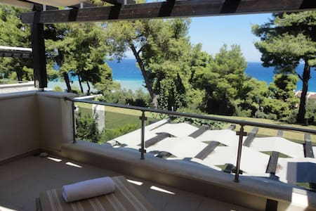 3 BD, Detached house, Sea view, Shared pool - Kriopigi