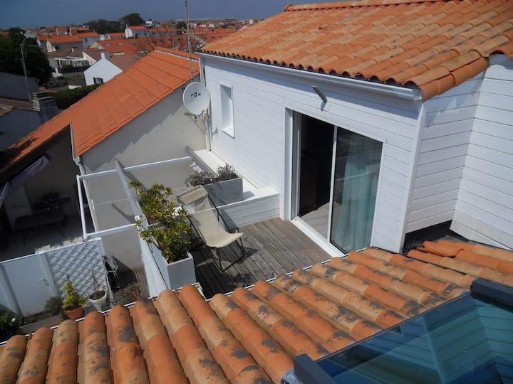 Chambre  avec terrasse privée aux Sables d'Olonne