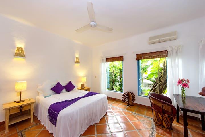 Romántica habitación  estilo mexicana.