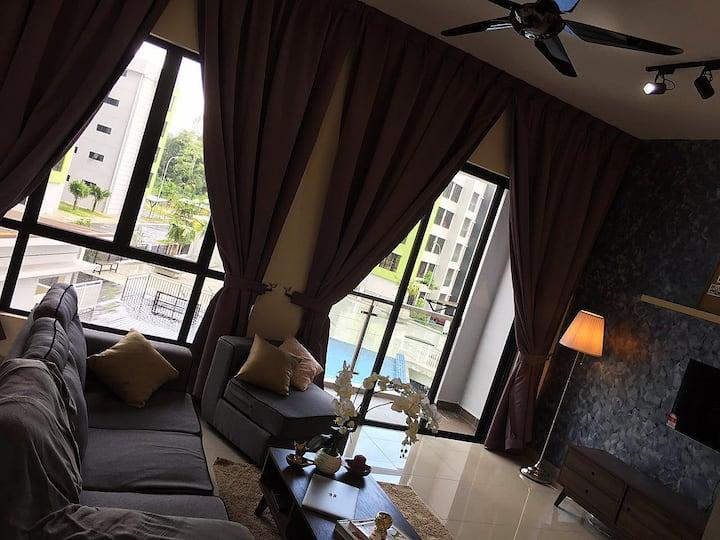 Cozy new pool view apartment @ Johor Bahru