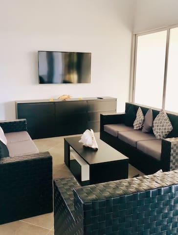 smart tv  & grand canapé