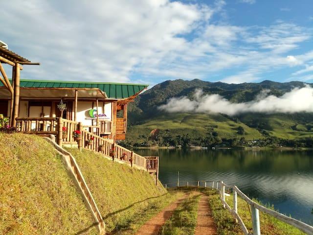 """Habitación privada a orillas del Lago """"CLUB CEAN"""""""