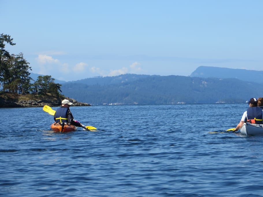Kayaking from Otter Bay Marina