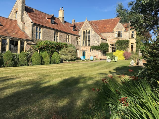 Manor house in 4 acres of gardens with a pool.