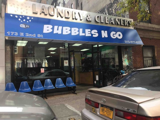 Bubbles N Go  Very clean and professional laundromat in the area.