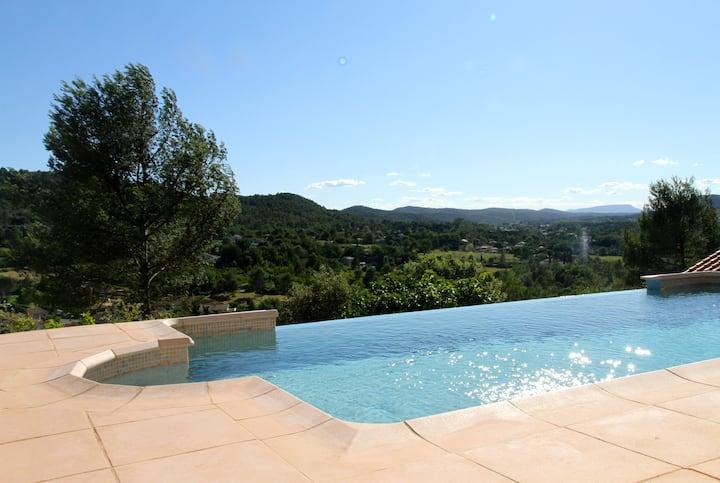Villa climatisée avec piscine dans le Var