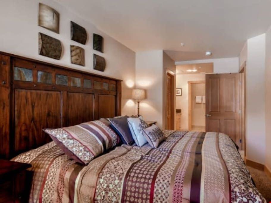 Get a good night sleep in one of the spacious bedrooms.