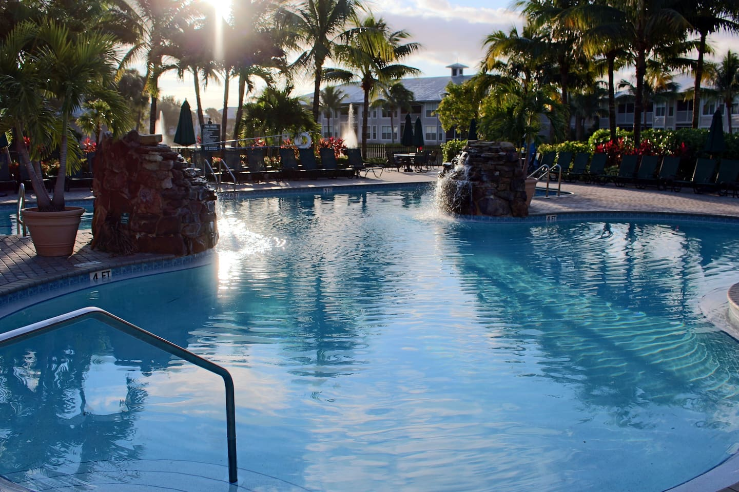 Relax on the expansive sundeck by the gorgeous resort style clubhouse pool