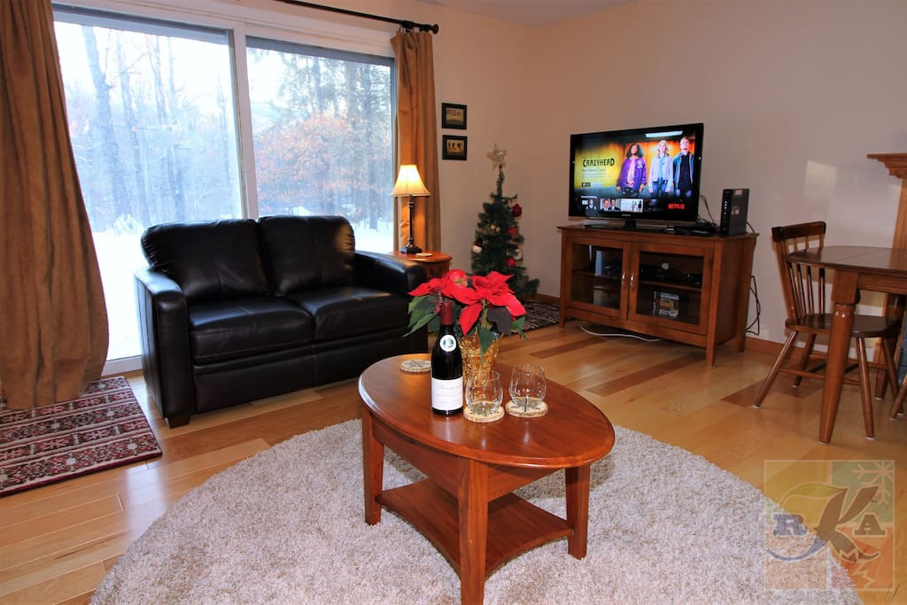 Living room with 42 inch flat screen TV