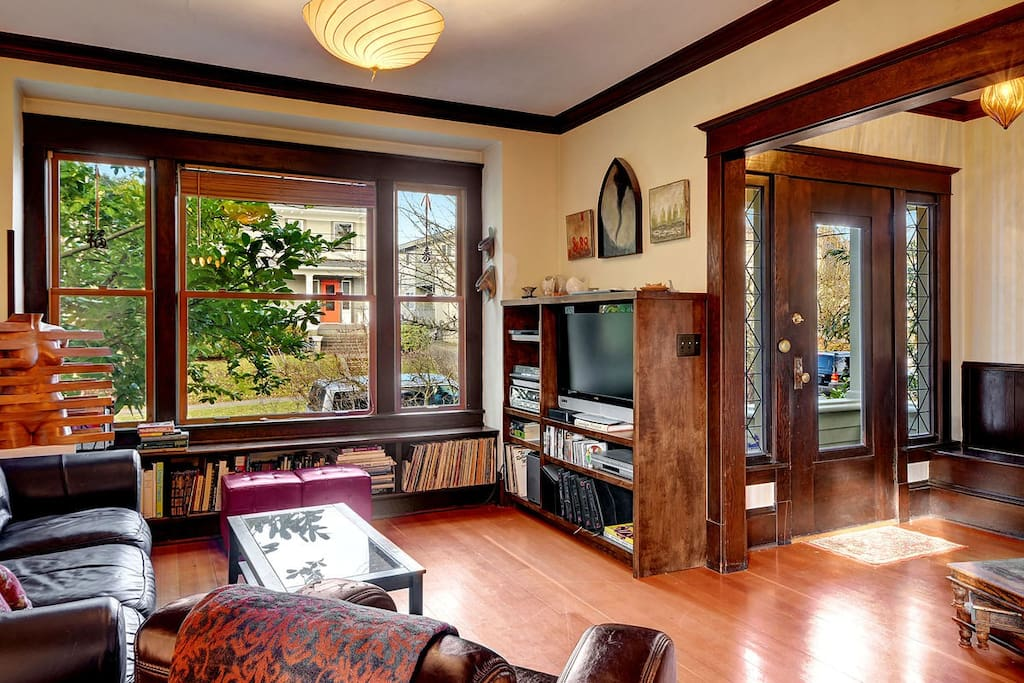 Beautiful wooden accents make this house feel like home.