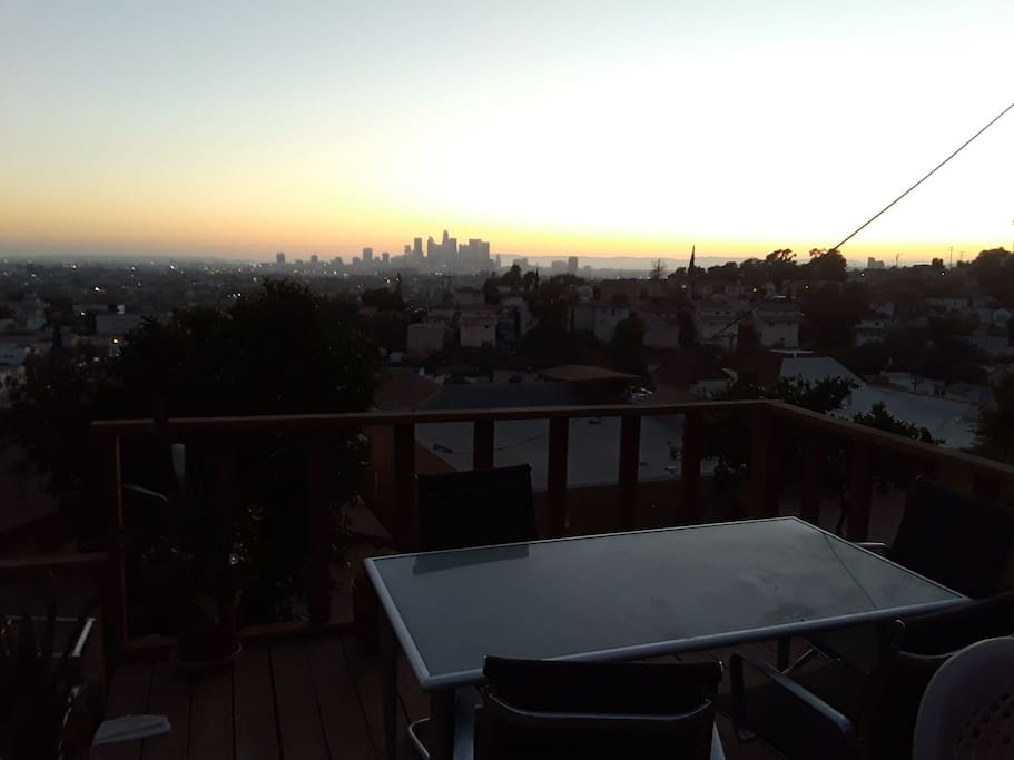 Deck view of  sunset.