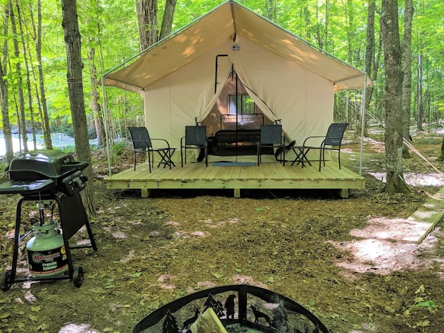 POV Resort Campgrounds - Social Distancing at its Best, Luxury Tent #14 (A-Frame Style)