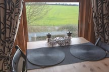 A room with stunning views over the Berkshire countryside....What better way to enjoy your breakfast.