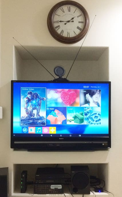 61 Inches TV at Living Room With TV BOX