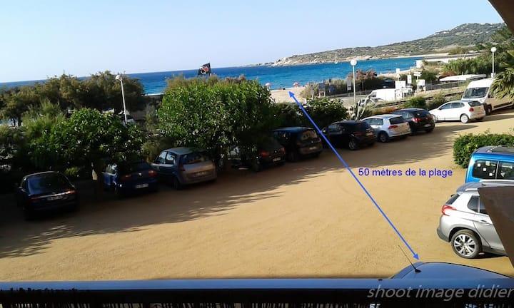 T3  avec balcon vue mer à 50 mètres de la plage !
