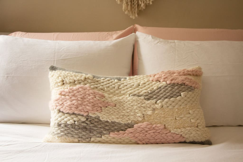 Handmade Sunwoven pillow
