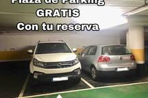 Plaza de Parking en La Plaza del Pilar, GRATIS durante tu estancia.