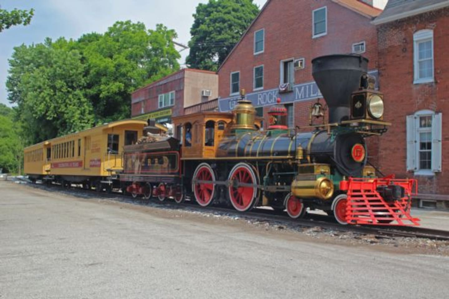 Steam into History Train traveling through downtown Glen Rock