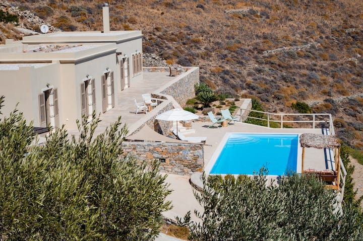 Syros villa Blue Line with sea view