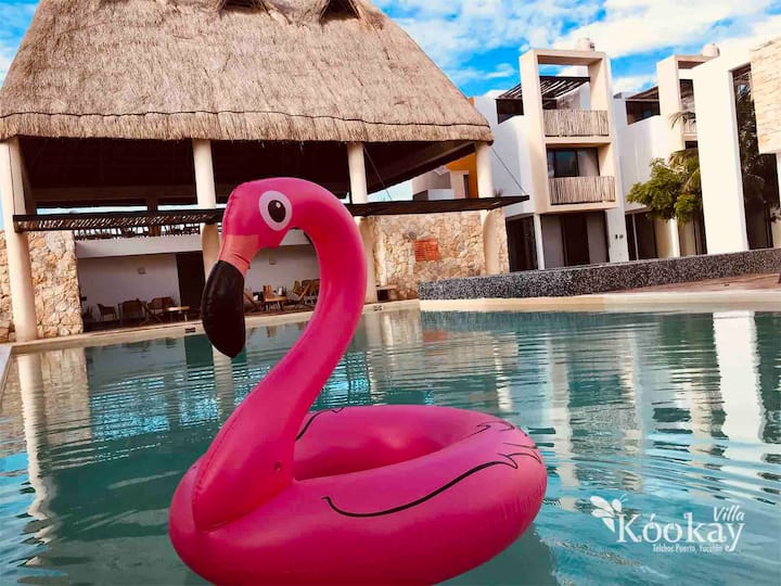 Hermosa villa estilo mexicano climas playa piscina