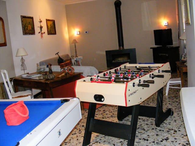Table football available.