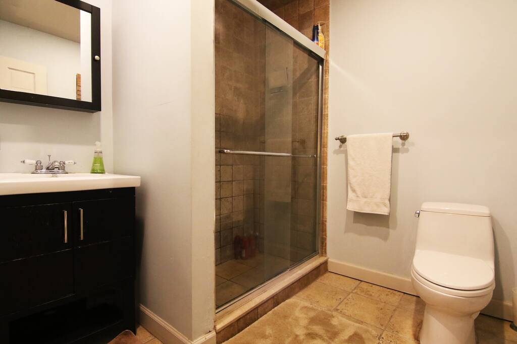 Great shower and toto toilet for those that know their toilets.