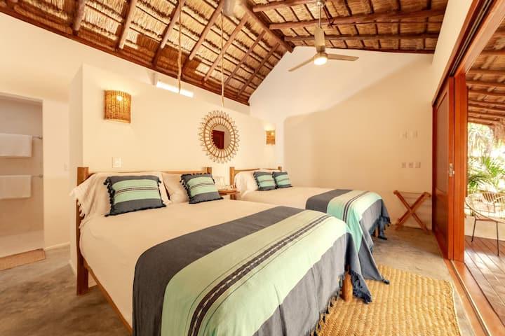 Mimosa Tulum - Deluxe Room 2 Queen beds