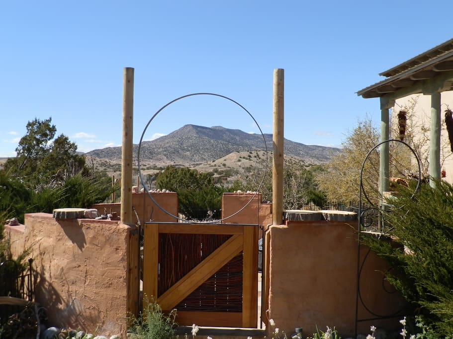 Our new customized hand-made patio entry gate. We now have sign of Casa Paloma over this - just no new 'perfect' photo... Yet.