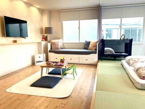 Charming Modern Japanese Room 8min walk Tenjin sta