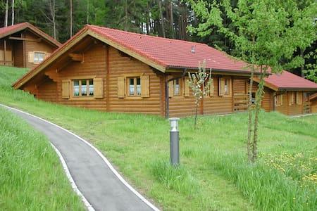 schönes Blockhaus am Waldrand im Naturerlebnispark - Stamsried