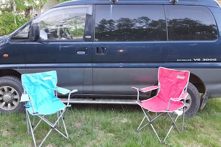 4WD Camping van with ski rack from Sapporo,Niseko - Sapporo-shi