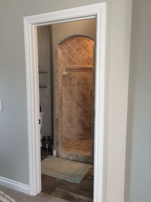 Bathroom entrance in upstairs master suite