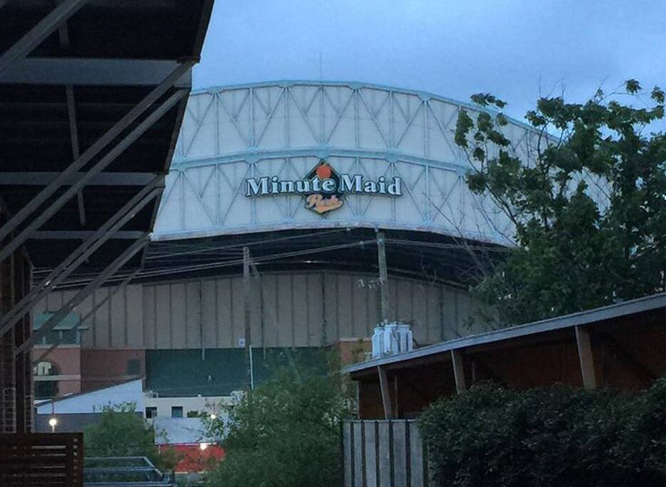 Minute Maid park is two blocks away; you can see it from the front yard.