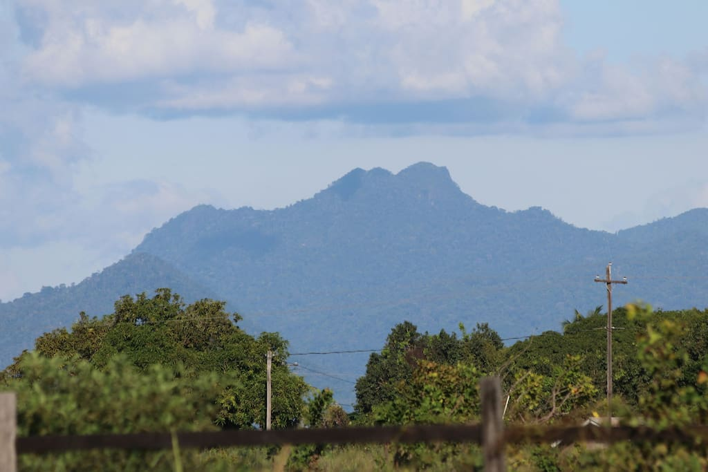 The view of the Kanuku Mountains from the common space
