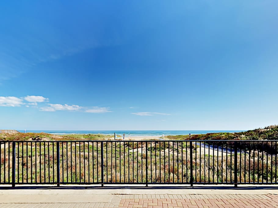 Water as far as the eye can see from your balcony.