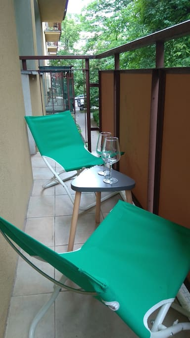 Relax on our calm balcony :)