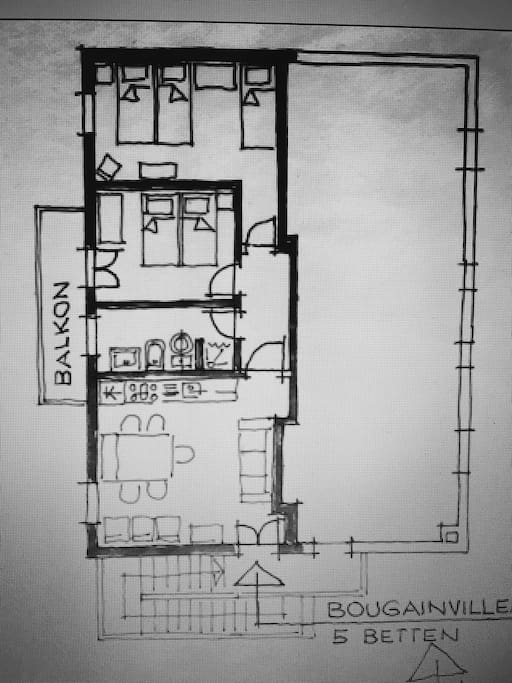 Pianta appartamento Ground plan apartment
