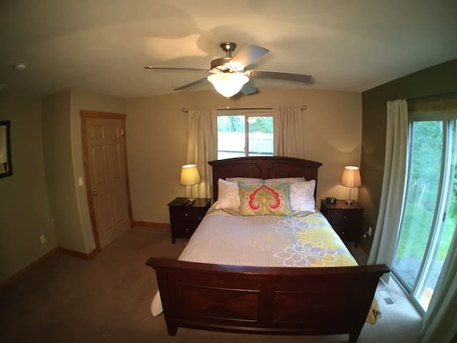 Master bedroom with beautiful views.  Private bath and walk-in closet.