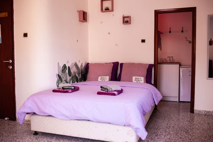 Double/Triple Room with Private Bath & Kitchen