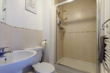 Ensuite with power shower. Attached to the main bedroom