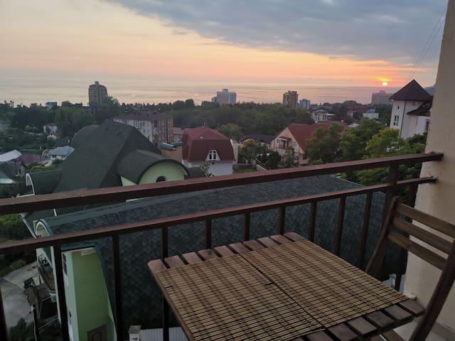 Уютные апартаменты с красивым видом на море
