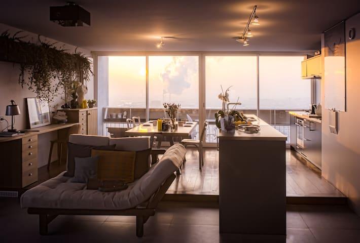 Loft 86 m² with stunning view