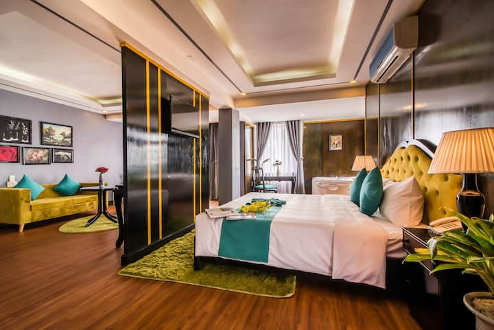 Suite with Balcony, Huong River and Hue City Views