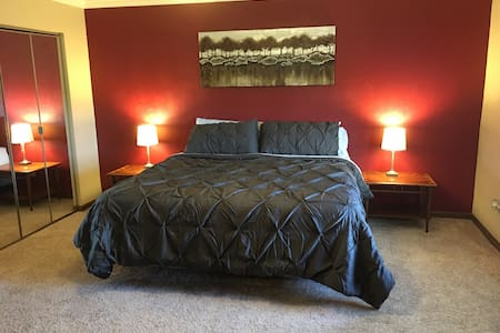 Master King Suite, near St. Louis - Belleville - House