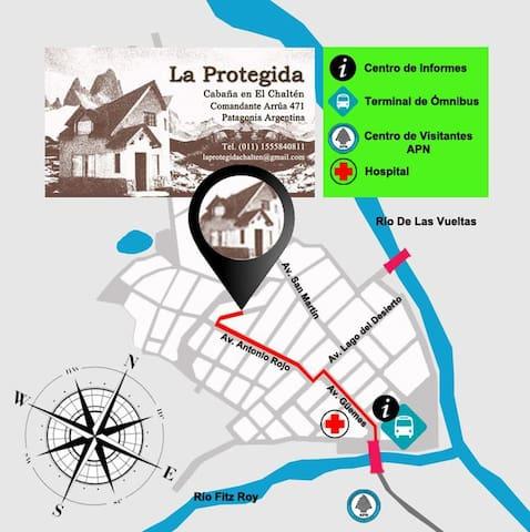 Mapa de llegada