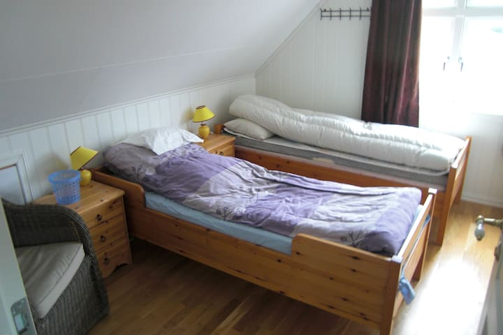 bedroom 1 two single beds
