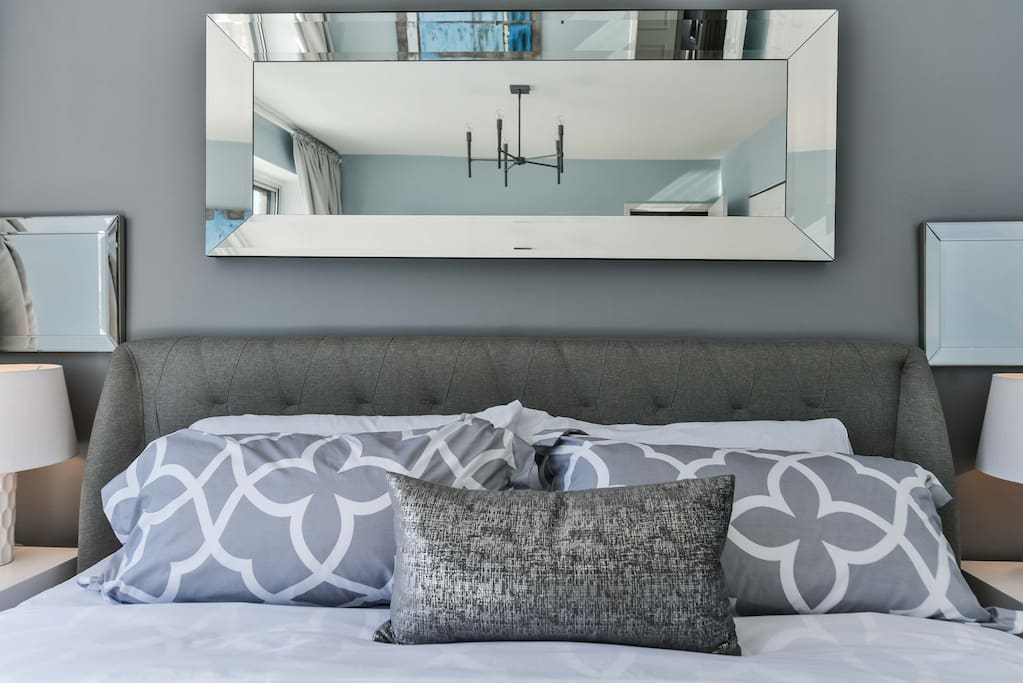 Modern and classic master bedroom